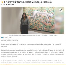 Fresnay-sur-Sarthe. Rocio Mazuecos expose à L'ArTmature de Le Maine libre