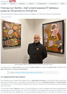 Fresnay-sur-Sarthe : Joël Lorand expose 27 tableaux jusqu'au 30 janvier à L'ArTmature de Les Alpes mancelles