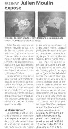 Julien Moulin expose de Orne Hebdo